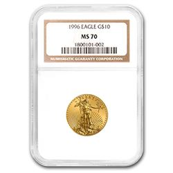 1996 1/4 oz Gold American Eagle MS-70 NGC