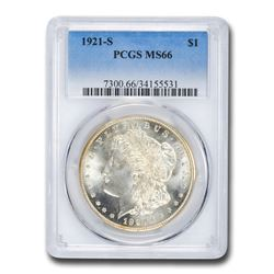 1921-S Morgan Dollar MS-66 PCGS