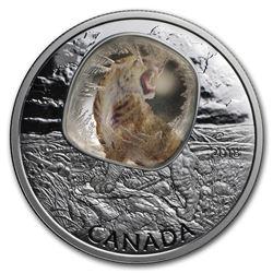 2018 Canada 1 oz Silver $20 Frozen In Ice: Sabretooth Cat