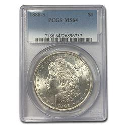 1888-S Morgan Dollar MS-64 PCGS