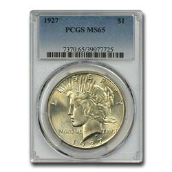 1927 Peace Dollar MS-65 PCGS