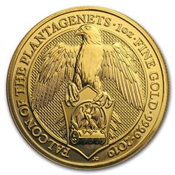 2019 Great Britain 1 oz Gold Queen's Beasts The Falcon