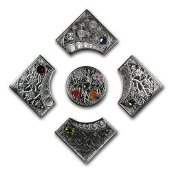 2013 Niue 5-Coin Silver 5x $2 The Four Seasons Proof Set