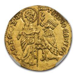 Venetian Republic AV Ducat Tomaso Mocenigo (1414-23 AD) MS-66 NGC