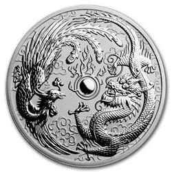 2017 Australia 1 oz Silver Dragon & Phoenix BU