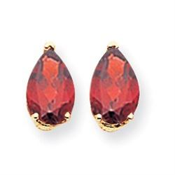 14k 9x6 mm Pear Garnet Earrings