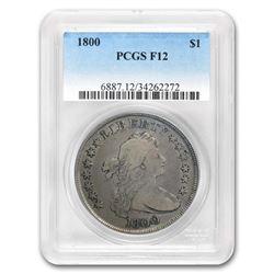 1800 Draped Bust Dollar Fine-12 PCGS