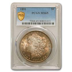 1891 Morgan Dollar MS-65 PCGS