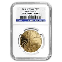 2010-W 1 oz Proof Gold American Eagle PF-70 NGC (ER)