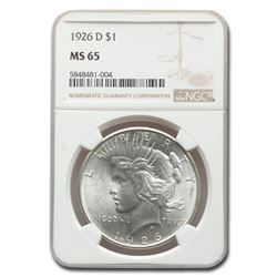 1926-D Peace Dollar MS-65 NGC