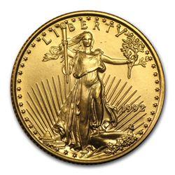 1992 1/4 oz Gold American Eagle BU