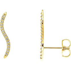 Natural 0.17 CTW Sway With Me Diamond Earrings 14KT Yellow Gold