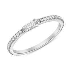 Natural 0.52 CTW Royalty Marquise & Round Diamond Ring 14KT White Gold
