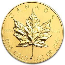 1989 Canada 1 oz Gold Maple Leaf BU