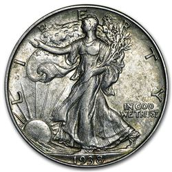 1938-D Walking Liberty Half Dollar AU