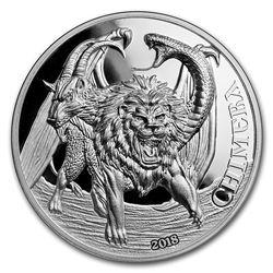 2018 Tanzania 2 oz Silver Mythological Animals (Chimera)
