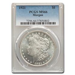 1921 Morgan Dollar MS-66 PCGS