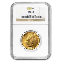 $10 Indian Gold Eagle MS-62 NGC (Random)