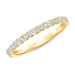 Natural 0.52 CTW Melody Diamond Ring 18KT Yellow Gold