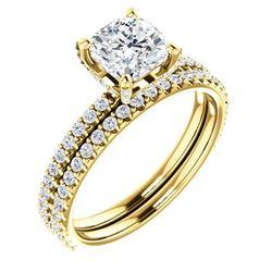 Natural 2.02 CTW Under-Halo Cushion Cut Diamond Ring 18KT Rose Gold