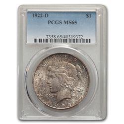 1922-D Peace Dollar MS-65 PCGS