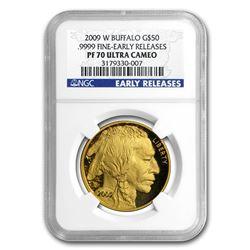 2009-W 1 oz Proof Gold Buffalo PF-70 NGC (ER)