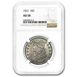 1831 Capped Bust Half Dollar AU-58 NGC