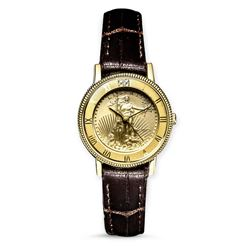 2019 1/10 oz Gold American Eagle Leather Band Watch