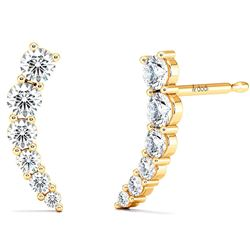 Natural 0.62 CTW Make-A-Wish Diamond Earrings 18KT Yellow Gold