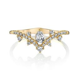 Natural 0.42 CTW Royal Diamond Ring 18KT Yellow Gold