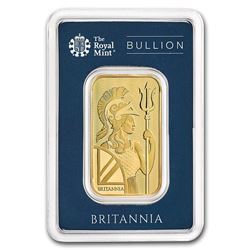 1 oz Gold Bar - The Royal Mint Britannia (In Assay)