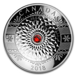 2018 Canada 1 oz Silver $25 Classic Holiday Ornament