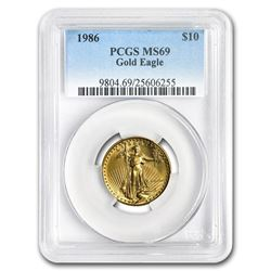 1986 1/4 oz Gold American Eagle MS-69 PCGS