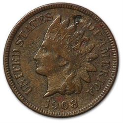 1908-S Indian Head Cent VF Details