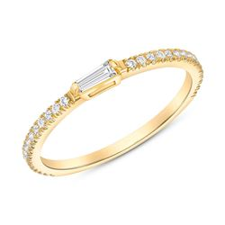 Natural 0.52 CTW Royalty Marquise & Round Diamond Ring 14KT Yellow Gold