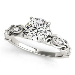 Natural 0.6 ctw Diamond Antique Ring 14k White Gold