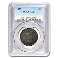 1835 Capped Bust Quarter AU-55 PCGS