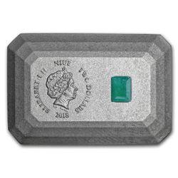 2018 Niue Silver $2 3D Emerald Shape Coin
