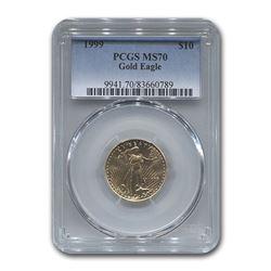 1999 1/4 oz Gold American Eagle MS-70 PCGS
