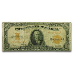 1922 $10 Gold Certificate Fine