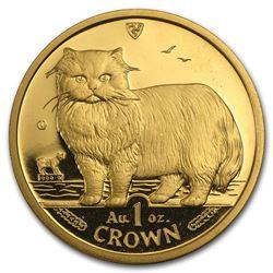 Isle of Man 1 oz Gold Cat BU/Proof (Random)
