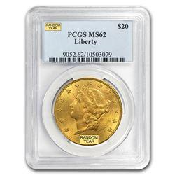 $20 Liberty Gold Double Eagle MS-62 PCGS (Random)
