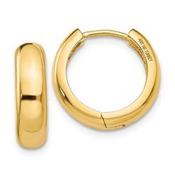 14k Solid Gold Huggie Earrings