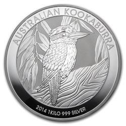 2014 Australia 1 kilo Silver Kookaburra BU
