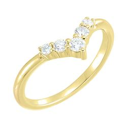 Natural 0.27 CTW Valentine Diamond Ring 14KT Yellow Gold