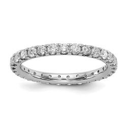 Natural 1.27 CTW Round Brilliant Diamond Eternity Band Wedding Ring 18KT White Gold