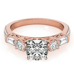 Natural 2.5 ctw Diamond Pave Ring 14k Rose Gold