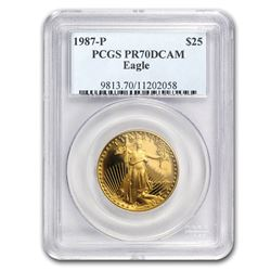 1987-P 1/2 oz Proof Gold American Eagle PR-70 PCGS