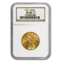 $10 Liberty Gold Eagle MS-64 NGC (Random)