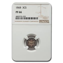 1868 Three Cent Silver PF-66 NGC